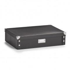 Zeller Krawatten-/Gürtelbox, Pappe, schwarz