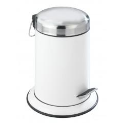 Wenko Kosmetik Treteimer Retoro Weiß, 3 Liter, Edelstahl rostfrei