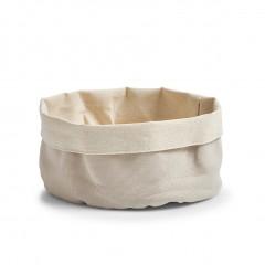 Zeller Brotbeutel, rund, Baumwolle, creme, Ø20 x 12 cm