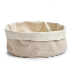Zeller Brotbeutel, rund, Baumwolle, creme, Ø25 x 13 cm