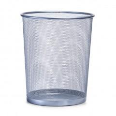 Zeller Papierkorb, Mesh, silber, Ø29,5 x 35 cm