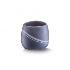 Zeller Zahnputzbecher, Steinoptik, Polyresin, grau, 9,2 x 9,5 x 8 cm