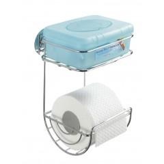 Wenko Turbo-Loc Toilettenpapierhalter mit Ablage, Befestigen ohne bohren