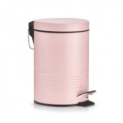 Zeller Kosmetikeimer, 3 ltr., Metall, rosé, Ø16,5 x 24,5 cm