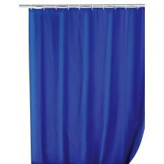 Wenko Duschvorhang Uni Night Blue, 180 x 200 cm