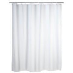 Duschvorhang Uni Weiß, 180 x 200 cm, waschbar