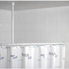 Wenko Deckenstütze für Duschstange Weiß, 57 cm