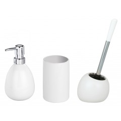 Bad-Accessoire-Set Polaris White, 3-teilig, Keramik