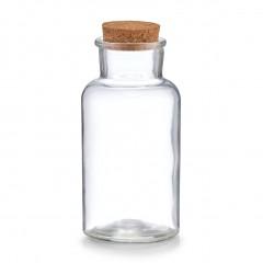 Zeller Gewürzglas m. Korkdeckel, 500 ml, Glas/Kork, Ø8 x 17,5 cm
