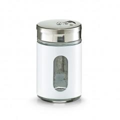 Zeller Gewürzstreuer, Edelstahl, weiß, 85 ml, Ø5 x 8,5 cm