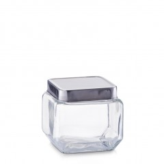 Zeller Vorratsglas m. Edelstahldeckel, 700 ml, Glas/Edelstahl 18/0, transparent, 11 x 11 x 10,5 cm