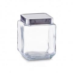 Zeller Vorratsglas m. Edelstahldeckel, 1100 ml, Glas/Edelstahl 18/0, transparent, 11 x 11 x 14 cm