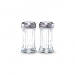 Zeller Salz-/Pfefferstreuer-Set, 2-tlg., Glas, Ø5 x 9,5 cm