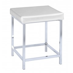 Wenko Hocker Deluxe Square White, Badhocker