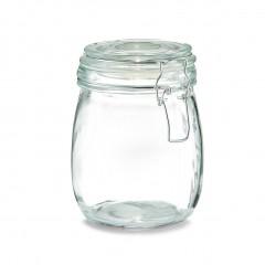 Zeller Vorratsglas m. Bügelverschluss, 750 ml, Glas/Edelstahl, transparent, Ø11 x 14 cm