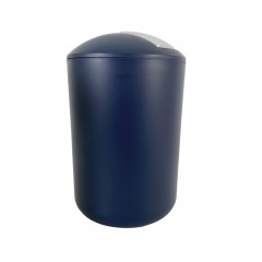 Kosmetikeimer mit Schwingdeckel, Badmülleimer bruchsicher Blau 6,5 Liter
