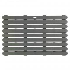 Dusch- und Saunarost für Innen- und Außenbereich Grau, rutschhemmend 80 x 50 cm