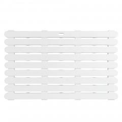 Dusch- und Saunarost für Innen- und Außenbereich Weiß, rutschhemmend 80 x 50 cm