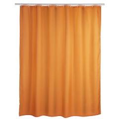 Anti-Schimmel Duschvorhang Uni Orange, 180 x 200 cm, waschbar