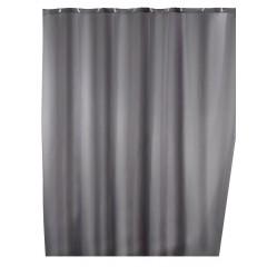 Anti-Schimmel Duschvorhang Uni Grey, 180 x 200 cm, waschbar