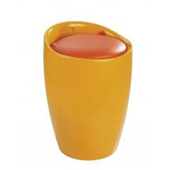 Hocker Candy Orange, Badhocker, mit abnehmbarem Wäschesack