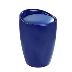 Hocker Candy Blue, Badhocker, mit abnehmbarem Wäschesack