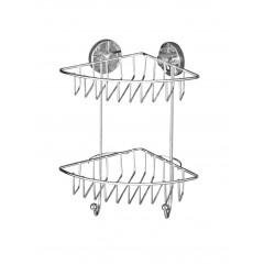 Wenko Vacuum-Loc Eckregal Bari 2 Etagen, Befestigen ohne bohren