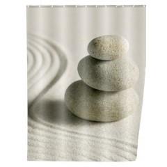 Wenko Duschvorhang Sand & Stone, 180 x 200 cm, waschbar