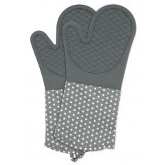 Topfhandschuhe Silikon Grau, 1 Paar