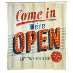 Anti-Schimmel Duschvorhang Vintage Open, 180 x 200 cm, waschbar