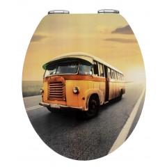 WC-Sitz Vintage Bus, Metal Plate Oberfläche, Absenkautomatik