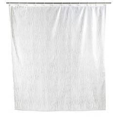 Wenko Duschvorhang Deluxe Weiß, mit glänzenden Applikationen, 180 x 200 cm, waschbar