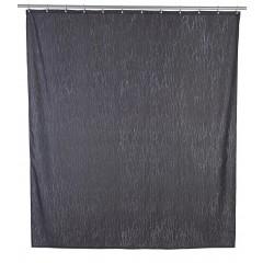 Wenko Duschvorhang Deluxe Grau, mit glänzenden Applikationen, 180 x 200 cm, waschbar