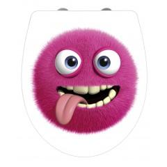 WC-Sitz Hochglanz Acryl Monster, Absenkautomatik, Fix-Clip Hygiene Befestigung