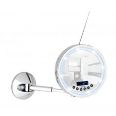 LED Wandspiegel Imperial, 3-fach Vergrößerung, mit Bluetooth Funktion, USB-Port und Mikrofon