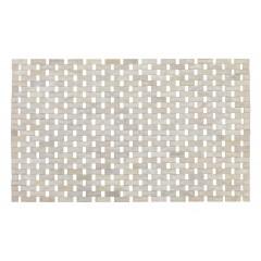 Wenko Badematte Bamboo Weiß, 50 x 80 cm