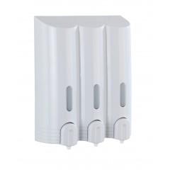 Wenko 3-Kammer Seifenspender Mura Weiß