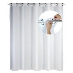 Duschvorhang Comfort Flex Weiß, Polyester, 180 x 200 cm, waschbar