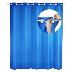 Wenko Duschvorhang Comfort Flex Blau, 180 x 200 cm, waschbar
