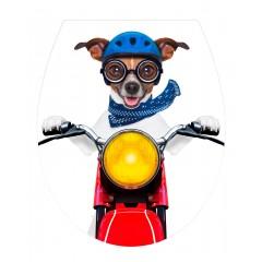 WC-Sitz Hochglanz Acryl Biker Dog, Absenkautomatik, Fix-Clip Hygiene Befestigung, Duroplast
