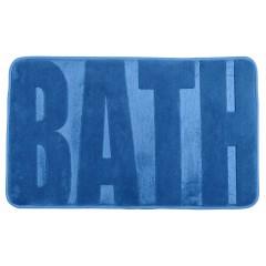 Wenko Badteppich Memory Foam Bath, Fjord Blue, 50 x 80 cm