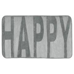 Wenko Badteppich Memory Foam Happy, Concrete Grey, 50 x 80 cm