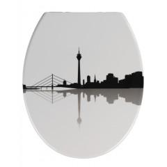 Wenko WC-Sitz Düsseldorf, Duroplast, mit Absenkautomatik