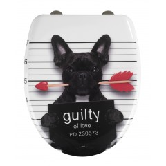 Premium WC-Sitz Guilty Dog, Duroplast, mit Absenkautomatik