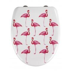 Premium WC-Sitz Flamingo, Duroplast, mit Absenkautomatik
