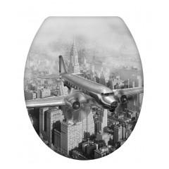 Wenko WC-Sitz Old-Time Plane, Duroplast, mit Absenkautomatik
