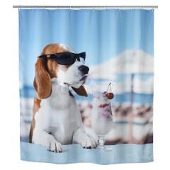 Wenko Duschvorhang Cool Dog, Polyester, 180 x 200 cm, waschbar
