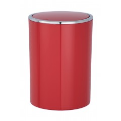 Wenko Schwingdeckeleimer Inca Red, hochwertiger Kunststoff, 5 Liter