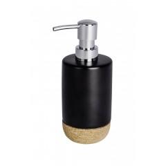 Wenko Seifenspender Corc Black, hochwertige Keramik, 360 ml