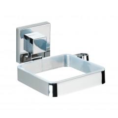 Wenko Vacuum-Loc® Haartrocknerhalter Quadro, Edelstahl, Befestigen ohne bohren